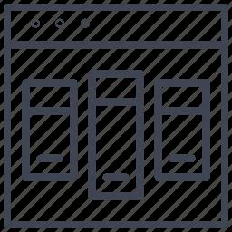 design, layout, starter, triple, ui icon