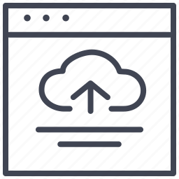 arrow, cloud, design, layout, ui, upload icon