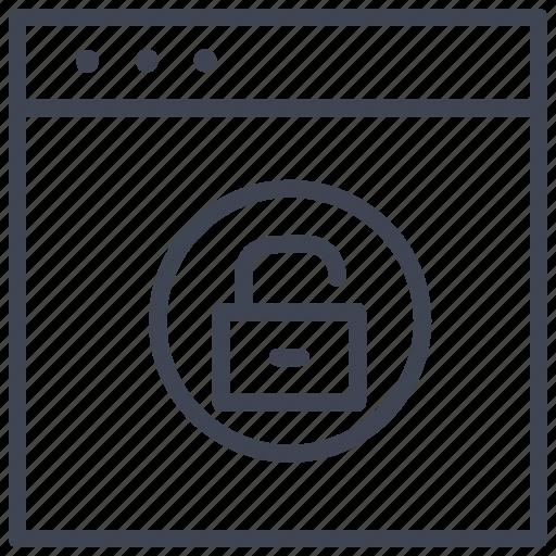 browser, ui, unlock, unlocked, website icon