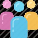 avatars, people, team, ui development, users icon