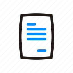 data, document, documents, paper, text icon