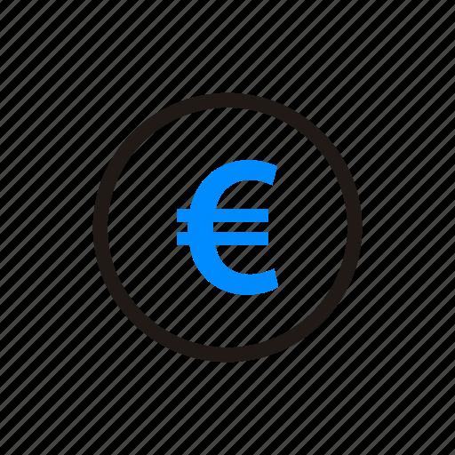 coin, euro, financial, money, payment, shipping, shopping icon
