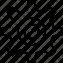 cog, industrial, options, settings, ui development icon