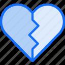 broken, heart, love, ui development, unfavorite, unlike icon