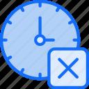 alarm timer, clock, delete, remove, ui development icon