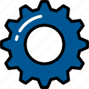 cog, industrial, options, settings, ui development icon