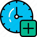add, alarm timer, clock, new, ui development icon