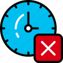 alarm timer, clock, delete, remove, ui development icon