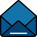 document, letter, mail, open, receive, ui development icon