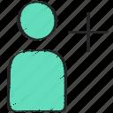 add, avatar, new, profile, ui development, user icon