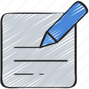 information, paper, pen, ui development, writing icon