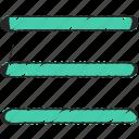 bars, burger, menu, options, ui development icon