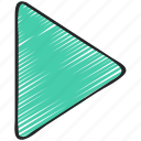 essentials, forward, go, play, ui development icon