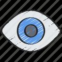 eye, see, ui development, view, visable icon