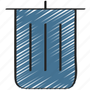 bin, garbage, remove, trash, ui development icon