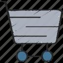 cart, ecommerce, saved, shopping, ui development icon