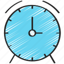 alarm, clock, management, time, ui development icon