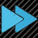 essentials, fast, forward, next, speed up, ui development icon