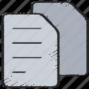 documents, files, paper, ui development, written icon
