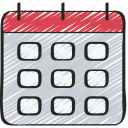 calendar, deadlines, schedule, time, ui development icon