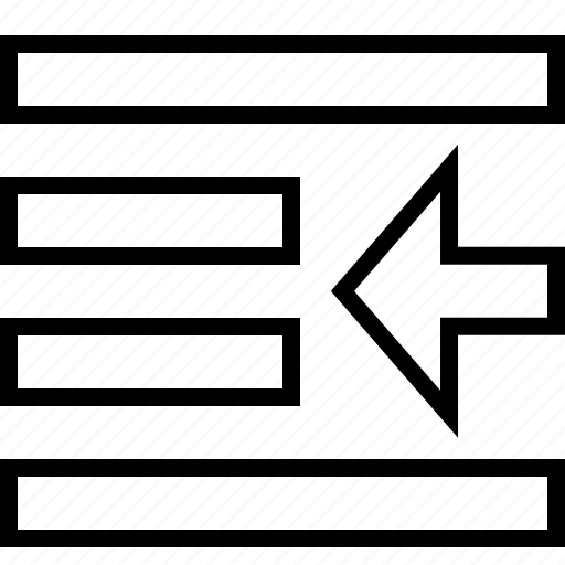 align, left, push, text icon