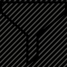 filter, funnel, refine, results icon