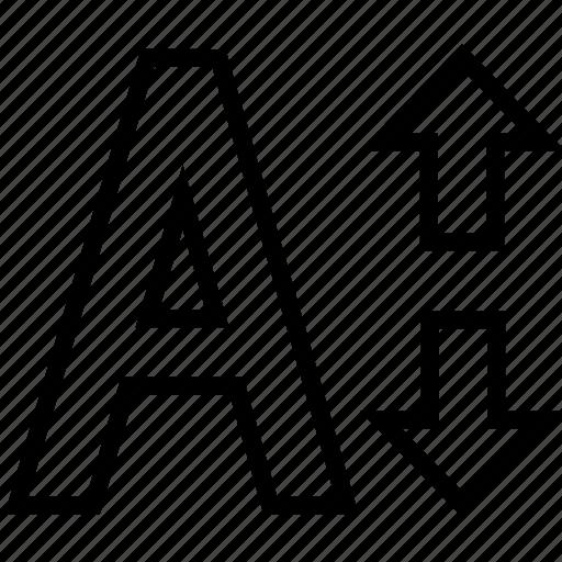 edit, font, font size, size, text icon