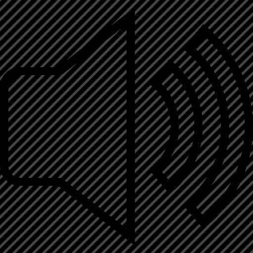 full, loud, loudness, speaker icon