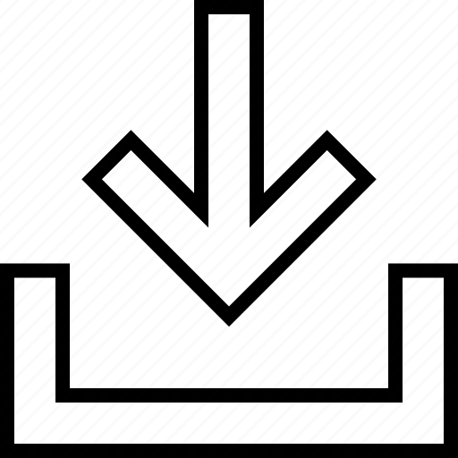 arrow, down, download, ui icon