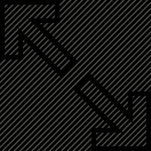 Arrows, diagonal, drag, enlarge icon - Download on Iconfinder