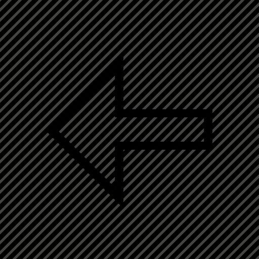 arrow, direction, left, prev, previous icon