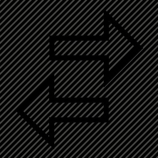 arrow, arrows, bidirections, both, directions icon