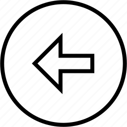 arrow, circle, direction, left, prev, previous icon