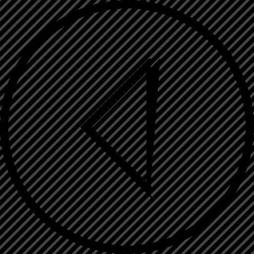 arrow, circle, prev, previous, ui icon