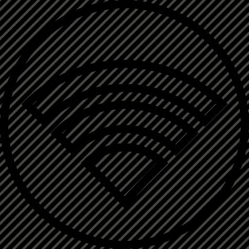 circle, full, online, signal, wi-fi, wifi, wireless icon