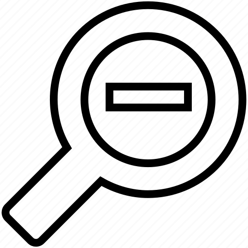 magnify, minus, out, zoom, zoom out icon