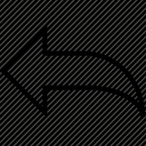 arrow, back, backwards, go, step icon