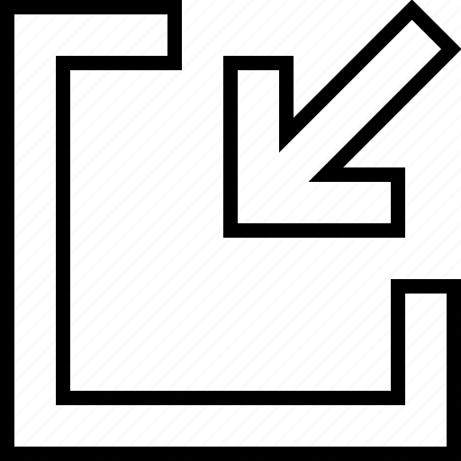 action, arrow, minimize, reduce icon