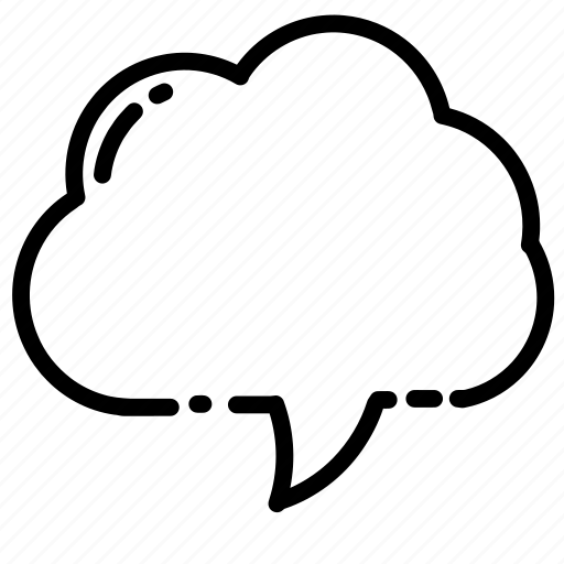 bubble callout cloud contact message speech text icon