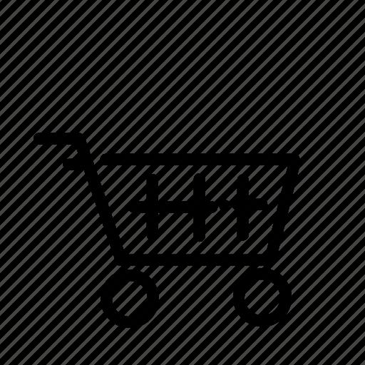 cart, grocery, phone, push, shop, shopping, ui icon