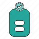battery, done, full, power icon