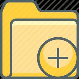 add, create, document, file, folder, new, plus icon
