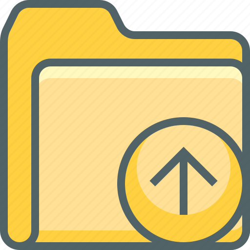 arrow, direction, document, file, folder, up, upload icon