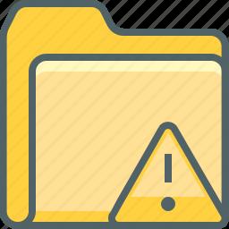 alert, caution, danger, document, file, folder, warning icon