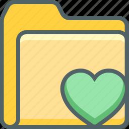 bookmark, document, file, folder, heart, like, romantic icon