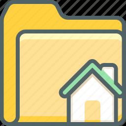 building, document, estate, file, folder, home, house icon