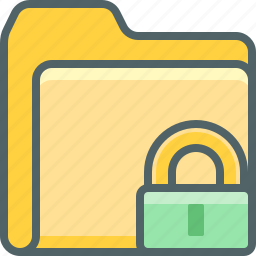 document, file, folder, lock, protection, safe, security icon