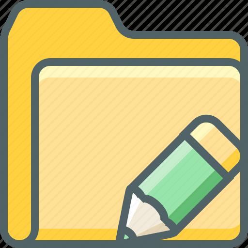 design, document, edit, file, folder, pencil, write icon