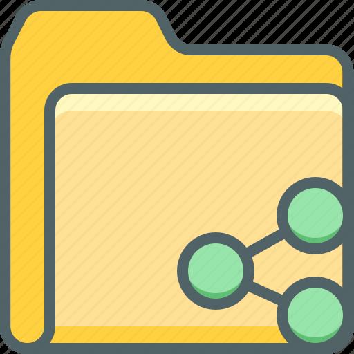document, exchange, file, folder, network, share, social icon