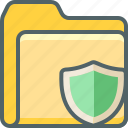 folder, shield, document, file, protection, safe, security icon